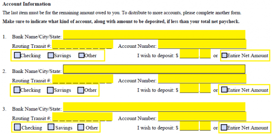Step 4 U2013 Attach To The Form A Voided Check For Each Checking Account Listed  Therein. A Deposit Slip Will Not Be Sufficient For The Purposes Of This  Form.