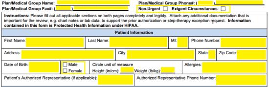 Free AETNA Prior Prescription (Rx) Authorization Form - PDF