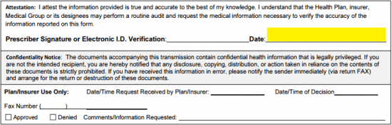 AETNA Prior Prescription (Rx) Authorization Form