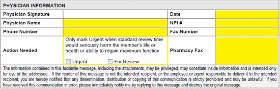 Free Catamaran Prior Prescription (Rx) Authorization Form - PDF
