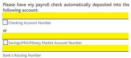 Chase Bank Direct Deposit Authorization Form | Authorization