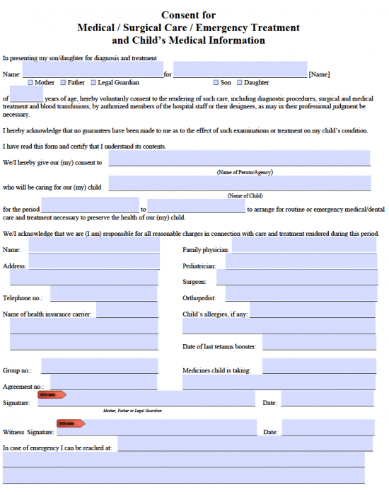 how to write a medical release form
