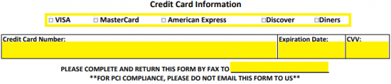 Days Inn Credit Card Authorization Form   Authorization Forms