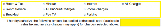 Free Extended Stay America Hotel Credit Card Authorization Form ...