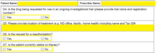 Free Humana Prior Prescription (Rx) Authorization Form - PDF