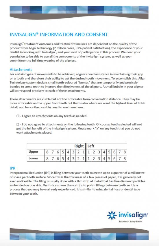 invisalign consent form Free Invisalign Consent Form - PDF