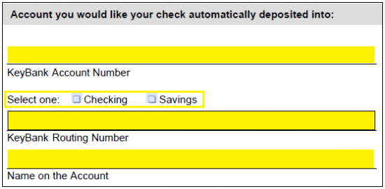 KeyBank Direct Deposit Authorization Form | Authorization Forms