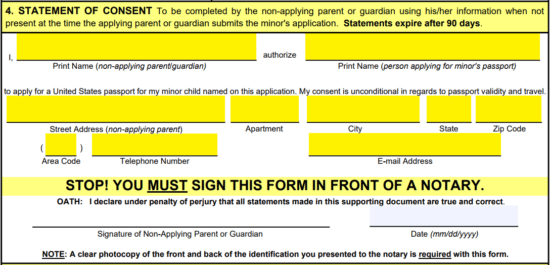 Step 4 U2013 Print The Form And Sign It Before A Notary, Having Them Complete  The Remainder Of The Document.