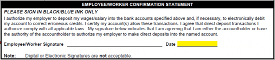 Free Paychex Direct Deposit Authorization Form Pdf