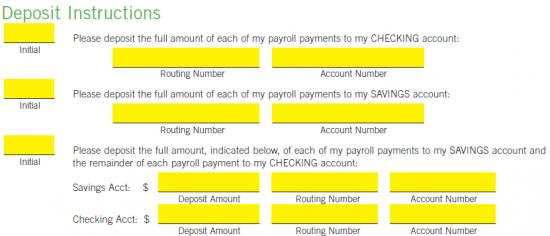 Free Regions Bank Direct Deposit Authorization Form Pdf