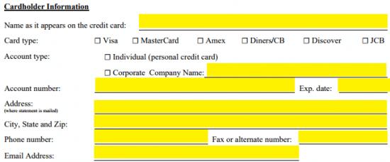 Ritz Carlton Visa-Karte