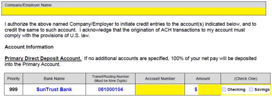 minimum amount to open suntrust checking account