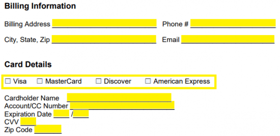 recurring payment authorization form pdf